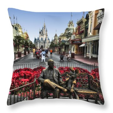 Roy And Minnie Mouse Walt Disney World Throw Pillow by Thomas Woolworth