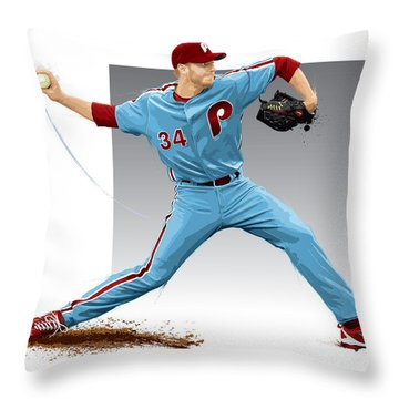 Roy Halladay Throw Pillow