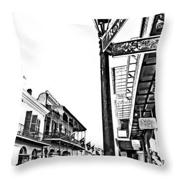 Royal Afternoon Monochrome Throw Pillow by Steve Harrington