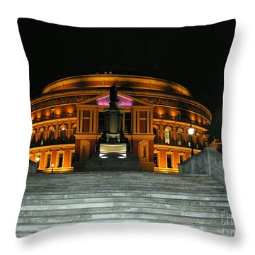 Royal Albert Hall At Night Throw Pillow by Bev Conover