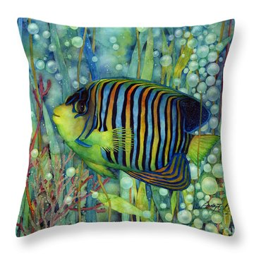 Royal Angelfish Throw Pillow