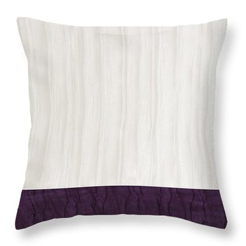 Royal Aubergine - Royal Purple Throw Pillow by Margaret Ivory