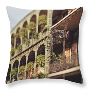 Throw Pillow featuring the photograph Royal Balconies by Heather Green