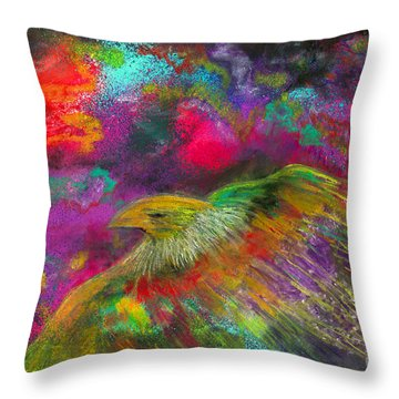 Royal Bird Throw Pillow
