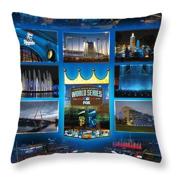 Royal Blue Kansas City Throw Pillow