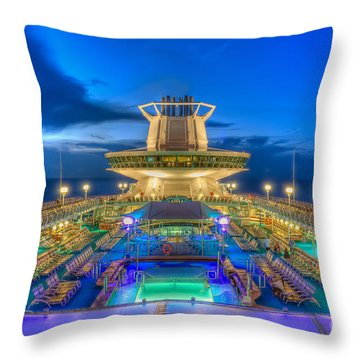 Royal Carribean Cruise Ship  Throw Pillow
