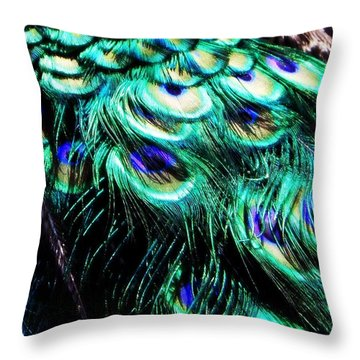 Royal Cloak Throw Pillow by Leah Moore