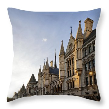 Throw Pillow featuring the photograph Royal Courts Of Justice London  by Shirley Mitchell