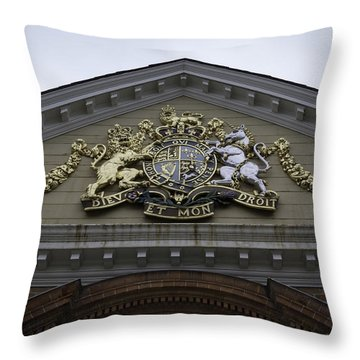 Royal Crest Throw Pillow