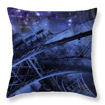 Royal Eiffel Tower Throw Pillow