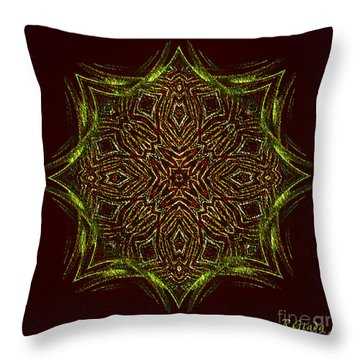 Throw Pillow featuring the digital art Royal Embroidery II - Abstract Art By Giada Rossi  by Giada Rossi