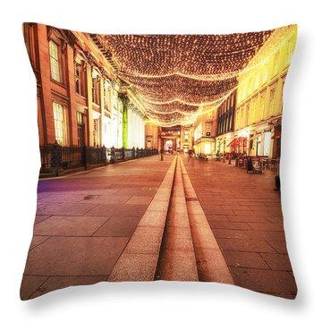 Royal Exchange Square Glasgow Throw Pillow by John Farnan