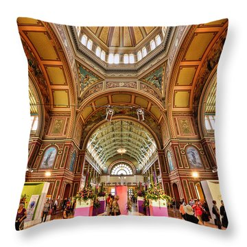 Royal Exhibition Building II Throw Pillow
