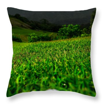 Throw Pillow featuring the photograph Royal Hawaiian Golf by Angela DeFrias