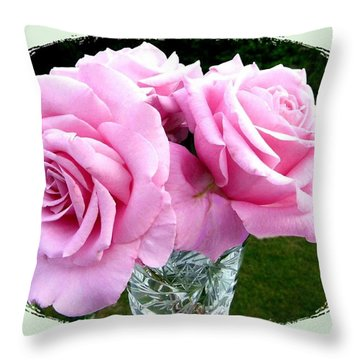Royal Kate Roses Throw Pillow by Will Borden