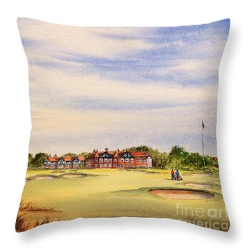 Royal Lytham And St Annes Golf Course Throw Pillow
