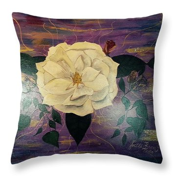 Royal Majestic Magnolia Throw Pillow