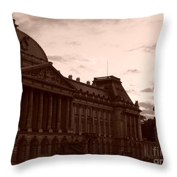 Royal Palace Brussels Throw Pillow