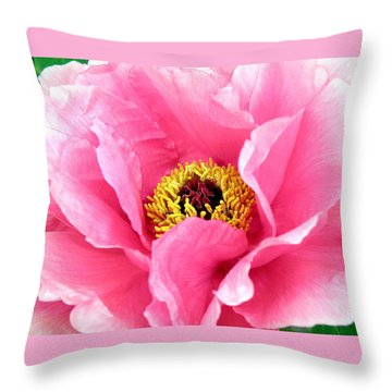 Royal Peony Throw Pillow