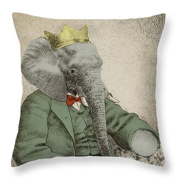 Royal Portrait Throw Pillow by Eric Fan