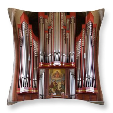 Royal Red King Of Instruments Throw Pillow