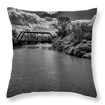 Royal River No.2 Throw Pillow by Mark Myhaver
