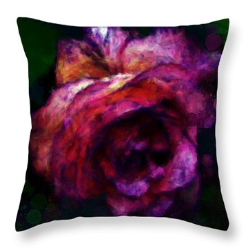 Royal Rose Painted Throw Pillow