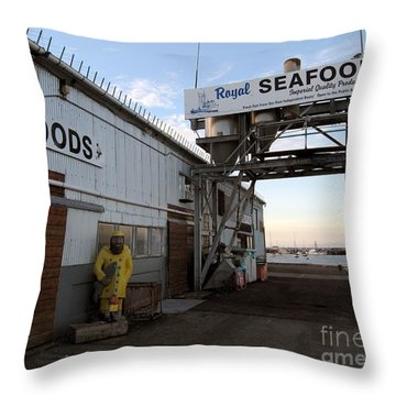 Royal Seafoods Monterey Throw Pillow