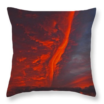 Royal Sunset Throw Pillow