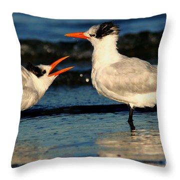 Royal Tern Courtship Dance Throw Pillow
