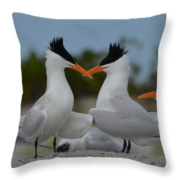 Bills Crossed Throw Pillow