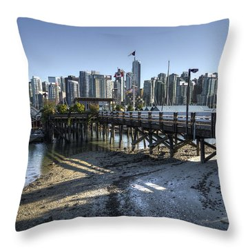Throw Pillow featuring the photograph Royal Vancouver Yacht Club by Ross G Strachan