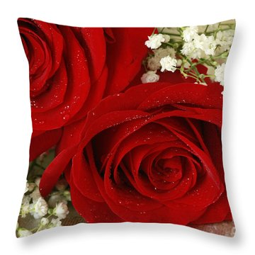 Royal Velvet Roses Throw Pillow by Inspired Nature Photography Fine Art Photography