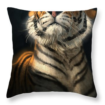 Royalty Throw Pillow by Aaron Blaise