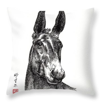 Throw Pillow featuring the painting Royalty by Bill Searle