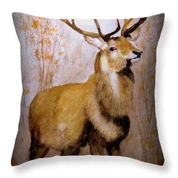 Royalty In The Forest Throw Pillow