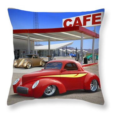 Roy's Gas Station 2 Throw Pillow