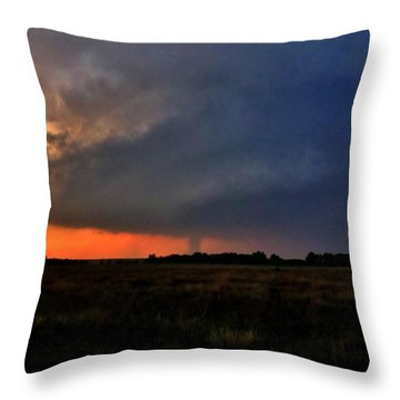 Throw Pillow featuring the photograph Rozel Tornado by Ed Sweeney