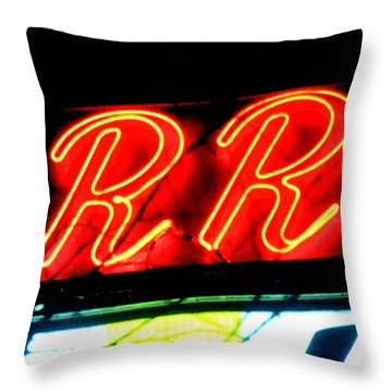 Throw Pillow featuring the painting RR by Luis Ludzska