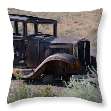 Throw Pillow featuring the photograph Rt 66 And Nowhere To Go by Debby Pueschel