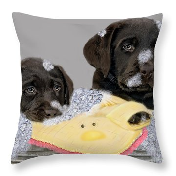 Rub-a-dub-dub Throw Pillow