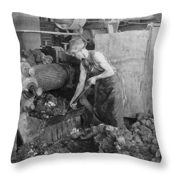 Rubber Production, C1928 Throw Pillow by Granger