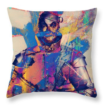 Rubber Tin Man  Throw Pillow