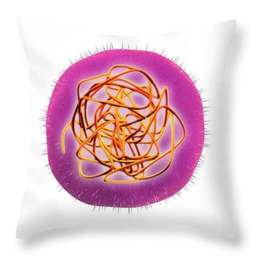 Microbiology Throw Pillows