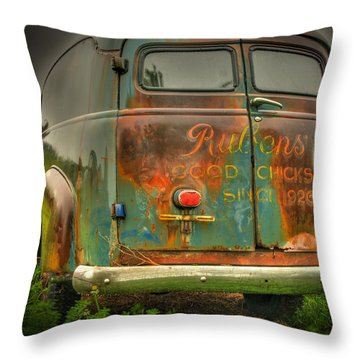 Rubens Good Chicks 1 Throw Pillow by Thomas Young