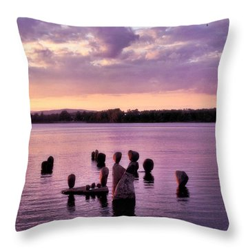 Throw Pillow featuring the photograph Rubicon by Heather King