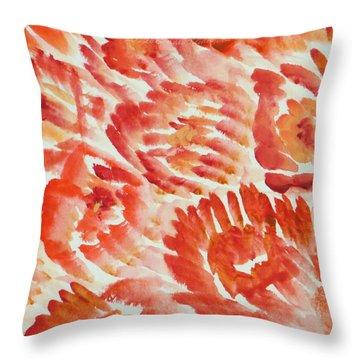 Rubicund Sea Throw Pillow by Sonali Gangane