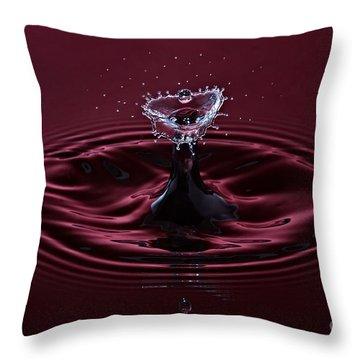 Rubies And Diamonds Throw Pillow by Susan Candelario