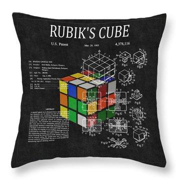 Rubik's Cube Patent 3 Throw Pillow