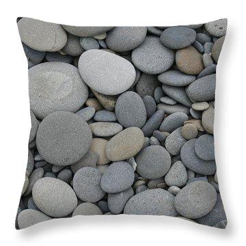 Ruby Beach Pebbles Throw Pillow